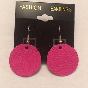 Jewelry - Leather earrings!